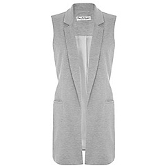 Miss Selfridge - Grey sleeveless jacket
