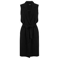 Miss Selfridge - Belted sleeveless jacket