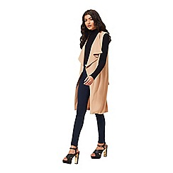 Miss Selfridge - Waterfall sleeveless jacket