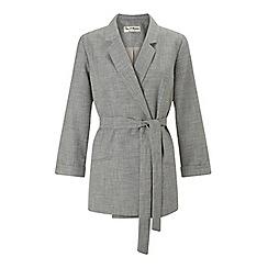 Miss Selfridge - Belted textured jacket