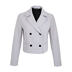 Miss Selfridge - Bonded crepe button jacket