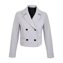 Miss Selfridge - Bonded crepe button jacket