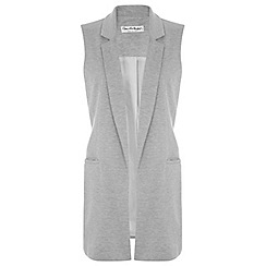 Miss Selfridge - Longline sleeveless jacket