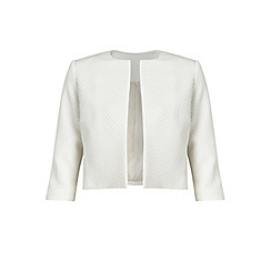 Miss Selfridge - White jacquard jacket