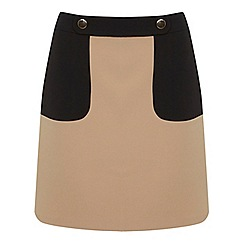 Miss Selfridge - Colourblock button mini skirt