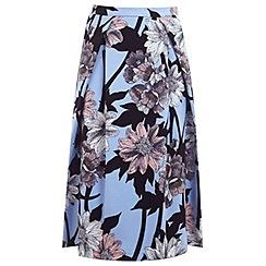 Miss Selfridge - Graphic floral print skirt