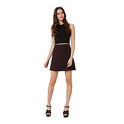 Miss Selfridge - Stripe boucle mini skirt