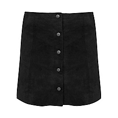 Miss Selfridge - Suede popper skirt