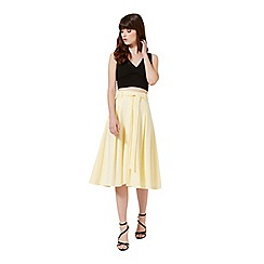 Miss Selfridge - Lemon tie midi skirt