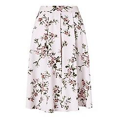 Miss Selfridge - Floral print midi skirt