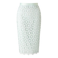 Miss Selfridge - Mint lace pencil skirt