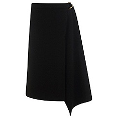 Miss Selfridge - D-ring wrap midi skirt