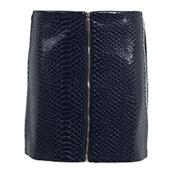 Miss Selfridge - Croc pu mini skirt