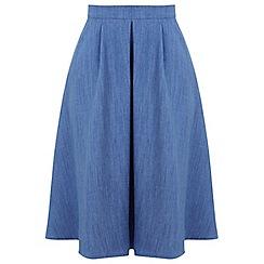 Miss Selfridge - Linen midi skirt