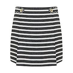Miss Selfridge - Stripe boucle mini skirt