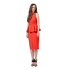 Miss Selfridge - Peplum midi dress