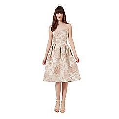 Miss Selfridge - Floral jacqaurd midi dress