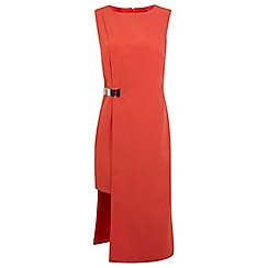 Miss Selfridge - Red step hem dress