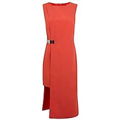 Miss Selfridge - Red step hem dress