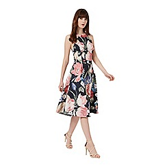 Miss Selfridge - Floral lace back midi dress