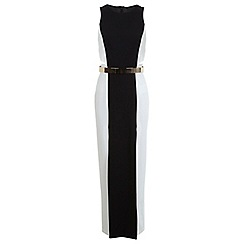 Miss Selfridge - Colourblock cut out maxi dress