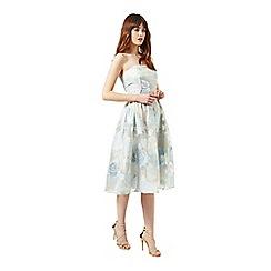 Miss Selfridge - Blue organza midi dress