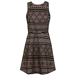 Miss Selfridge - Belted bonded lace dress