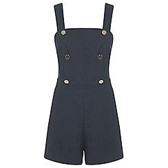 Miss Selfridge - Faux denim button playsuit