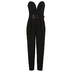 Miss Selfridge - Black buckle detail jumpsuit