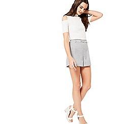 Miss Selfridge - Grey belted short