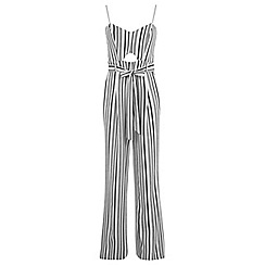 Miss Selfridge - Stripe wide leg jumpsuit