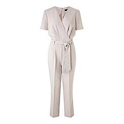 Miss Selfridge - Grey wrap jumpsuit