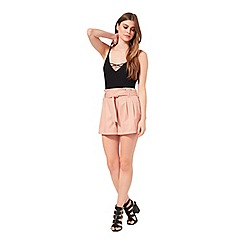 Miss Selfridge - Pink belted short