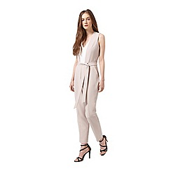 Miss Selfridge - Colourblock tie waist jumpsuit