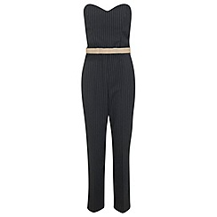 Miss Selfridge - Pinstripe bandeau jumpsuit