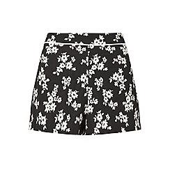 Miss Selfridge - Mono floral jacquard short