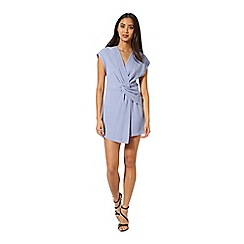 Miss Selfridge - Blue drape playsuit