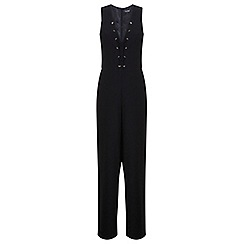 Miss Selfridge - Lace up detail jumpsuit