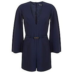 Miss Selfridge - Cape sleeve belted playsuit