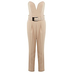 Miss Selfridge - Bandeau buckle jumpsuit