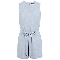 Miss Selfridge - Linen playsuit grey