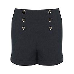 Miss Selfridge - Faux denim button short