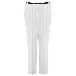 Miss Selfridge - Pinstripe belted trouser