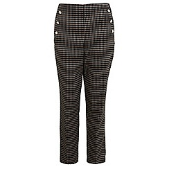 Miss Selfridge - Check button detail trouser