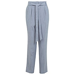 Miss Selfridge - Linen belted trouser