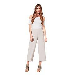 Miss Selfridge - Mink wide leg cropped trouser