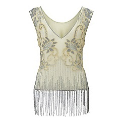 Miss Selfridge - Embellished fringe top