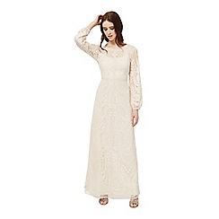 Miss Selfridge - Nude embroided maxi dress