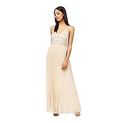 Miss Selfridge - Embellished pleat maxi dress