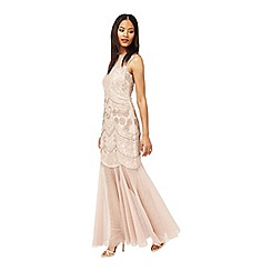 Miss Selfridge - Blush embellished maxi dress